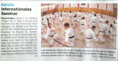 Foto zur Meldung: Abteilung Karate: Bericht der MOZ