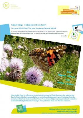 Vorschaubild zur Meldung: Schmetterlinge-  Stiefkinder des Fortschritts? Vortrag am 6.6.19 um 17 Uhr im Tiergarten Delitzsch