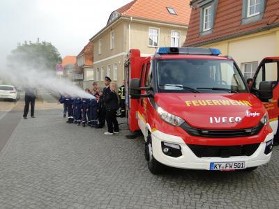 Vorschaubild zur Meldung: Neues Fahrzeug für die Freiwillige Feuerwehr Kyritz