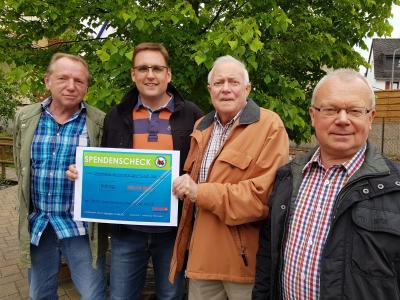 Auf dem Bild von links: Michael Habke, Axel Saueressig, Willi Kreidel und Gerd Zimmermann. Es fehlt auf dem Bild Mike Zach.