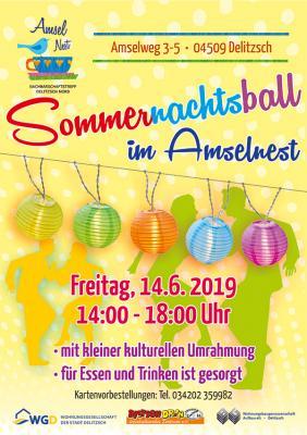 Vorschaubild zur Meldung: Sommernachtsball im Amselnest am 14. Juni 2019