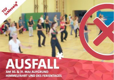 Vorschaubild zur Meldung: AUSFALL! Übungsstunden beim TSV Schleswig