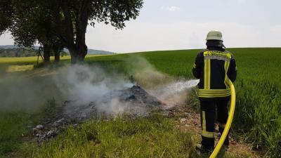 Vorschaubild zur Meldung: Einsatz Nr. 36 - Rauchentwicklung im Freien, Spechbacher Weg