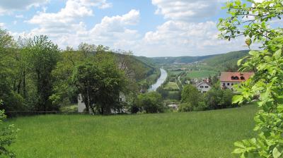 Blick vom Schloss Prunn
