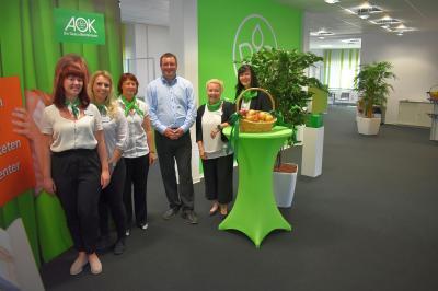 Foto zur Meldung: Neueröffnung des AOK-Kundencenters Querfurt