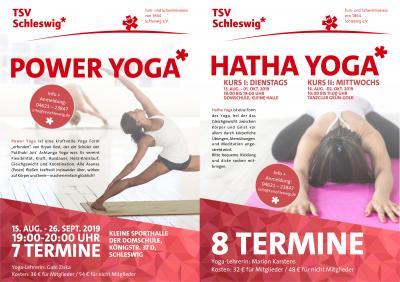 Vorschaubild zur Meldung: Neue Yoga-Kurse beim TSV Schleswig