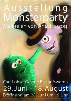 """Ausstellung """"Monsterparty"""" 29.06.-18.08.2019"""