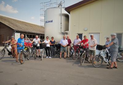 Stadt Perleberg | 1. Tour führte Radler zur Agrargenossenschaft.