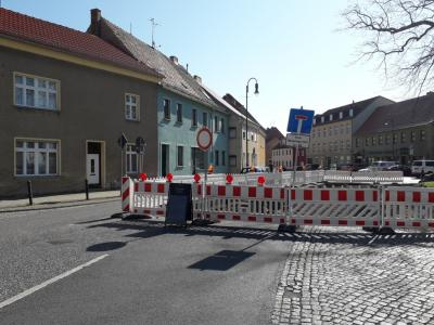 Baustelle B102 Ortsdurchfahrt Jüterbog
