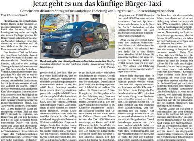 Vorschaubild zur Meldung: Jetzt geht es um das künftige Bürger-Taxi