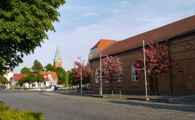 Blick zur Kirche am Markt