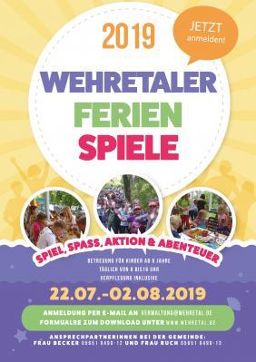 Ferienspiele in Wehretal 2019