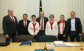 Der Vorstand vom SSV mit D. Breves