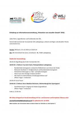 Vorschaubild zur Meldung: Einladung zur Informationsveranstaltung