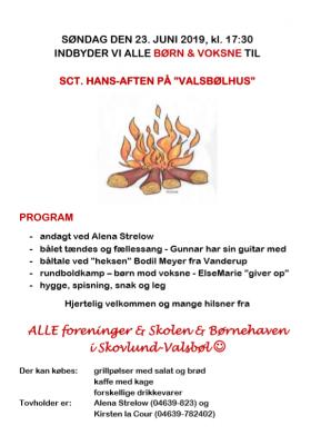Foto zur Meldung: Einladung für Sct. Hans-Aften