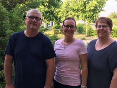 v.l.. Frank Standke, Andrea Willrich, Doreen Käthe