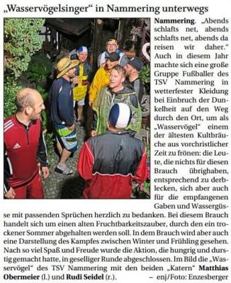 """Vorschaubild zur Meldung: """"Wasservögelsinger"""" in Nammering unterwegs"""