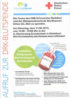 Vorschaubild zur Meldung: DRK-Blutspende