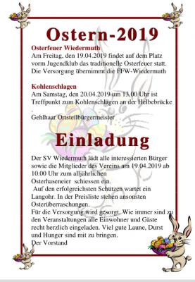 Foto zur Meldung: Ostern in Wiedermuth