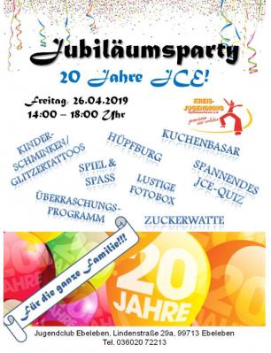 Foto zur Meldung: 20 Jahre Jugendclub Ebeleben