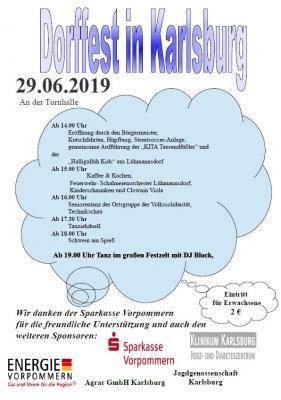 Foto zu Meldung: Dorffest in Karlsburg