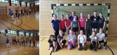 Foto zur Meldung: Besonderer Schuljahresabschluss für die Fußballmädchen