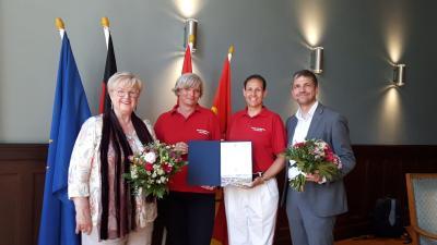 Foto zur Meldung: SG Fanfarenzug Potsdam e. V. zum 1. Ehrenbotschafter Potsdams ernannt