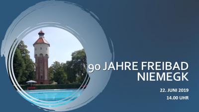 Vorschaubild zur Meldung: Am 22. Juni 2019 feiern wir 90 Jahre Freibad Niemegk