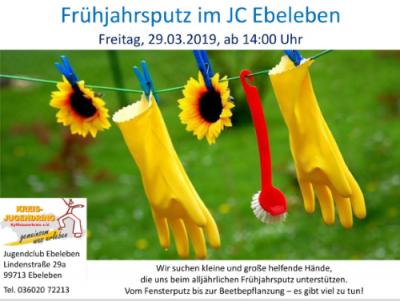Foto zur Meldung: Frühjahrsputz im Jugendclub Ebeleben