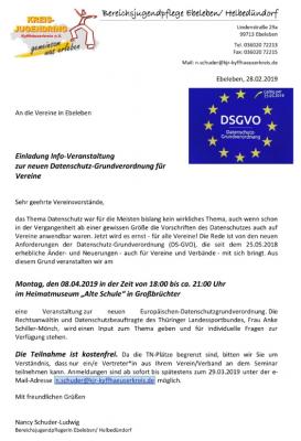 Foto zur Meldung: Informationsberanstaltung zur neuen Datenschutz-Grundverordnung für Vereine