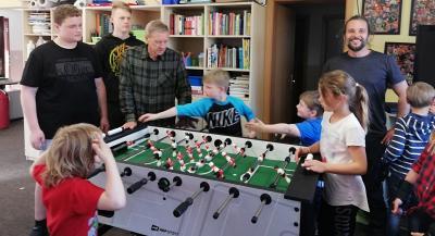 Foto zur Meldung: Groß Laasch - Riesenfreude im Jugendklub