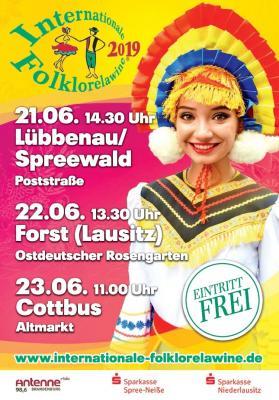 """Morgen geht es los: Der Landkreis Oberspreewald-Lausitz freut sich gemeinsam mit dem Landkreis Spree-Neiße auf die 19. """"Internationale Folklorelawine"""""""