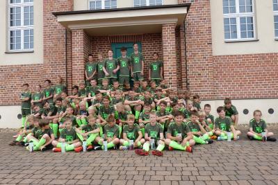 Foto zur Meldung: 12. Fußballcamp des ESV Lok Falkenberg - 1. Tag