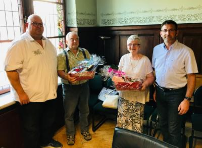 konstiturierende Stadtverordnetenversammlung Dahme/Mark am 20.06.2019 Verabschiedung Frau Dr. Fietzek und  Herr Woitschätzky