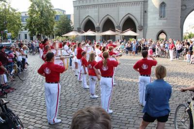 Foto zur Meldung: Fanfarenzug Potsdam feiert Premiere auf der Fete de la Musique