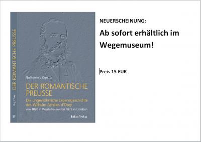 Vorschaubild zur Meldung: Das abenteuerliche Lebens eines Wusterhauseners jetzt als Buch erhältlich