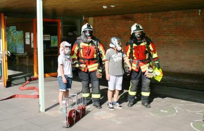 Vorschaubild zur Meldung: Brandschutzerziehung und Räumungsübung in der Grundschule