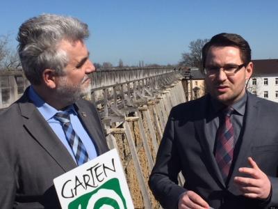 Foto zur Meldung: Der Wirtschaftsminister des Landes Sachsen-Anhalt zu Besuch in Bad Dürrenberg