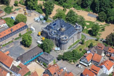 Foto zur Meldung: Schloss Wächtersbach – Restauration auf der Zielgeraden