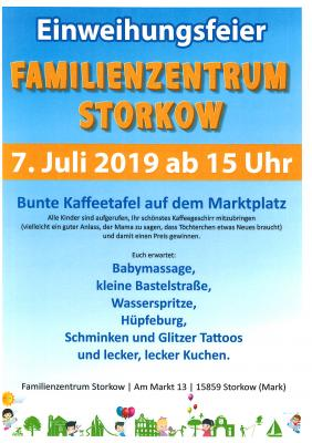 Vorschaubild zur Meldung: Einladung zur Eröffnung des Familienzentrums in Storkow am 7. Juli von 15 - 18 Uhr