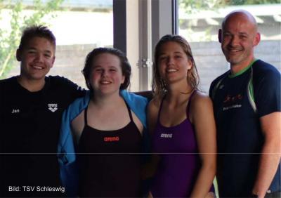 Foto zur Meldung: TSV Schleswig-Schwimmer*innen bei den Landesmeisterschaften