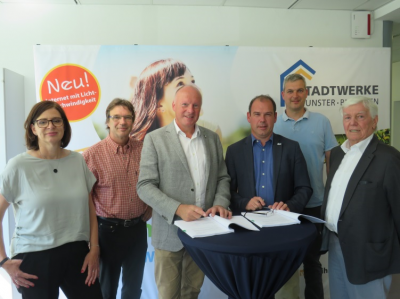 Foto zur Meldung: Gemeinde Bispingen vergibt Gaskonzession erneut an die Stadtwerke Munster-Bispingen –   Vertrag über weitere 20 Jahre