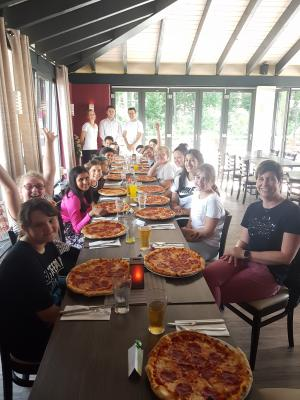 Vorschaubild zur Meldung: Wandertag und Pizza am Seewog