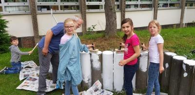 Vorschaubild zur Meldung: Projektwoche: Kunst - wir verschönern unsere Schule