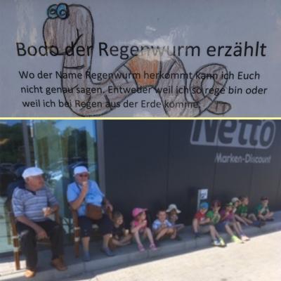 Foto zur Meldung: Bodo - der Regenwurm und Eis essen