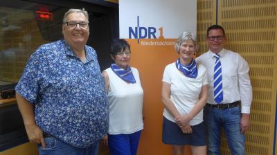 Michael Thürnau vom NDR, Karin Theurich, Olaf Pickhardt und Kerstin Barnert-Paul