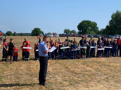 Foto zur Meldung: 27. Amtsausscheid der Freiwilligen Feuerwehr Amt Neuzelle