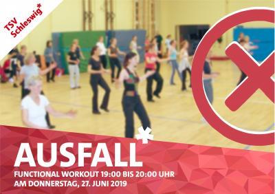 Vorschaubild zur Meldung: AUSFALL! -Functional Workout- beim TSV Schleswig