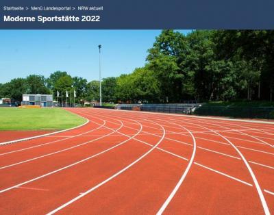"""Foto zur Meldung: Abrufung von Fördermitteln aus dem Sportstättenförderungsprogramm """"Moderne Sportstätte 2022"""""""