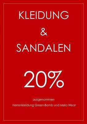 Vorschaubild zur Meldung: Summer Sale: 20 Prozent auf Kleidung